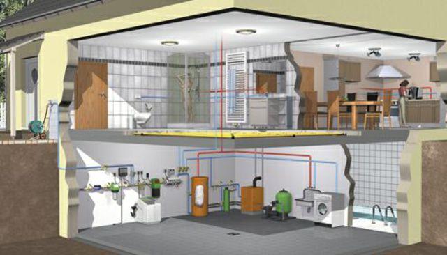 Схемы отопления для загородного дома