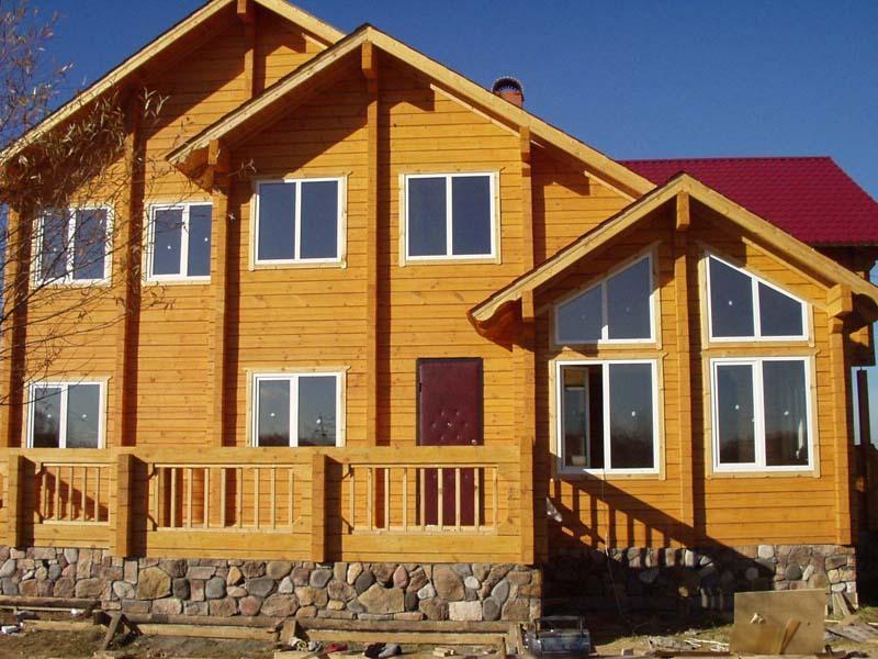 отделка внешних стен домов из древесины