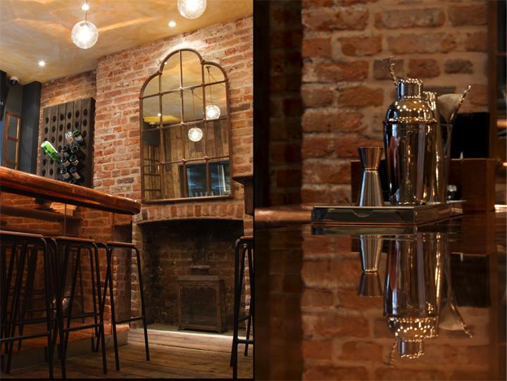 Хот-доги и шампанское в кафе Bubbledogs от дизайнеров B3, Лондон, Великобритания