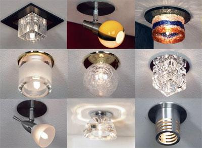 светильник точечный для потолка натяжного