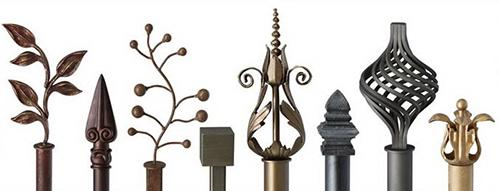 Кованые наконечники для забора в разнообразных стилях